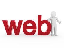 colore rosso umano di Web 3d Fotografia Stock Libera da Diritti