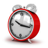 Colore rosso un orologio della parentesi una sveglia Immagini Stock