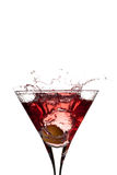 Colore rosso in un vetro Fotografie Stock