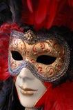 Colore rosso veneziano della mascherina Immagine Stock