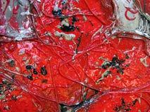 Colore rosso verniciato astratto Immagini Stock Libere da Diritti