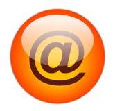 Colore rosso vetroso all'icona di tasso Fotografia Stock