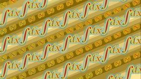 Colore semplice di progettazione integrale del batik Fotografie Stock Libere da Diritti