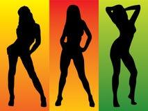 Colore sexy tre Immagine Stock Libera da Diritti