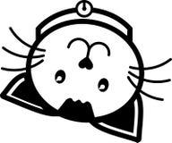Colore solido dell'icona del gatto di vettore piano di proroga dell'illustrazione Fotografia Stock Libera da Diritti