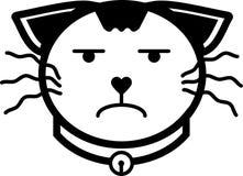 Colore solido dell'icona del gatto di vettore piano turbato dell'illustrazione Fotografie Stock