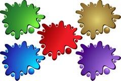 Colore Splattered Fotografie Stock Libere da Diritti