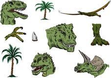 Colore stabilito di Dino Immagine Stock