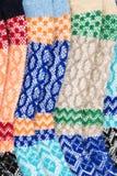 Colore tricottato fondo della lana, barrato immagini stock libere da diritti
