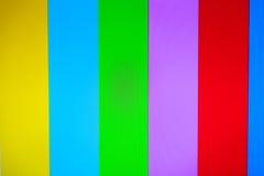 Colore TV senza il fondo del segnale Fotografie Stock Libere da Diritti