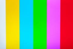 Colore TV senza il fondo del segnale Fotografia Stock