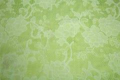 Colore verde chiaro del tessuto del pizzo Immagine Stock