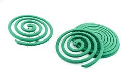 Colore verde dell'anti zanzara - insetticidi, bobine fotografia stock
