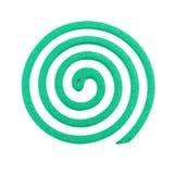 Colore verde dell'anti zanzara - insetticidi, bobine Fotografie Stock