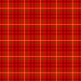 Colore verde e giallo luminoso e rosso scuro di tartan del plaid del tessuto scozzese del kilt del modello del fondo senza cucitu Fotografia Stock Libera da Diritti