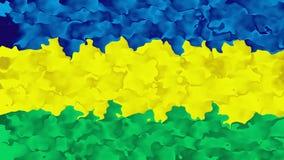 Colore verde giallo blu macchiato animato astratto del ciclo senza cuciture del fondo video