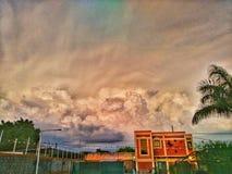 Colorea el cielo Imágenes de archivo libres de regalías