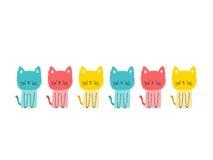 Colorea gatos lindos Foto de archivo libre de regalías