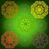 Colorea la mandala Imagen de archivo libre de regalías