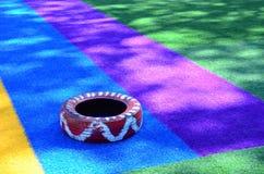 Colorea la pista del atletismo Imágenes de archivo libres de regalías