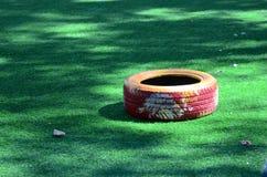Colorea la pista del atletismo Fotografía de archivo