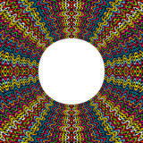 Coloreado alrededor del marco hecho de puntos con el lugar para el texto Imagen de archivo