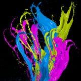 Coloreado salpica en forma de la raya libre illustration