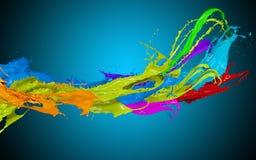 Coloreado salpica en forma de la raya ilustración del vector