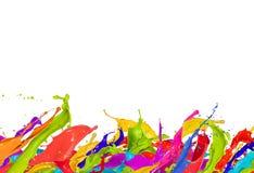 Coloreado salpica Fotografía de archivo