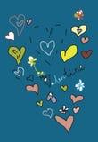 Coloreado sea mi postal del amor de la tarjeta del día de San Valentín Fotos de archivo libres de regalías