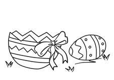 Coloreando para los ni?os, Pascua Página que colorea con el huevo stock de ilustración