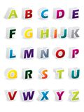 Colored 3d alphabet. With shadows Royalty Free Stock Images