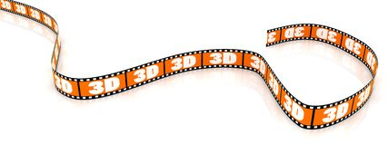 Colored 3D film Royalty Free Stock Photography
