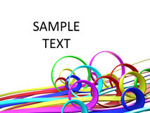 Colored 3d lines Stock Photo