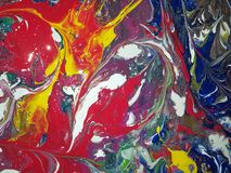 Absract Acrylic painting. Colored Abstract acrylic painting stock illustration