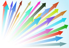 Colored abstract arrow background. Vector illustration. Colored abstract multiple forward arrow background Royalty Free Stock Photography