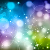 Colored abstract  background. Bokeh with stars Royalty Free Stock Images