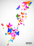 Colored abstract background with butterflies Royalty Free Stock Image