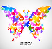 Colored abstract background with butterflies Stock Photography