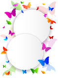 Colored abstract background with butterflies Royalty Free Stock Images