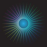 Colored abstract background. circles of glowing pixels. Concentric circles. vector illustration. digital. Light Abstract Technology background for computer Royalty Free Stock Image