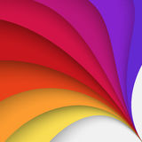 Colored abstract background. Abstract colorful background with twisted forms, vector graphic includes brown, yellow, orange, red and violet colors stock illustration