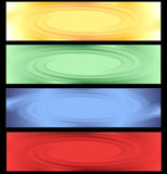 Colored abstract banner stock image