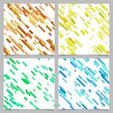 Colored abstract diagonal stripe pattern background set. Colored abstract chaotic diagonal stripe pattern background set vector illustration