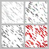 Colored abstract diagonal stripe pattern background set. Colored abstract chaotic diagonal stripe pattern background set stock illustration