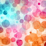 Colored Abstract Circles  Background. Light Colored Blue -  Pink - Orange Abstract Circles  Background Royalty Free Stock Image