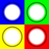 Colored abstract circles with glowing bright middle. Vector illustration for your design, logo, web. vector illustration