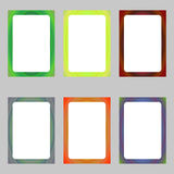 Colored abstract digital art brochure frame set Stock Image