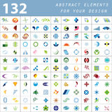 Colored Abstract Elements For Your Design Stock Photos