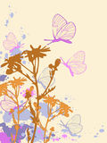 Colored abstract floral background stock illustration